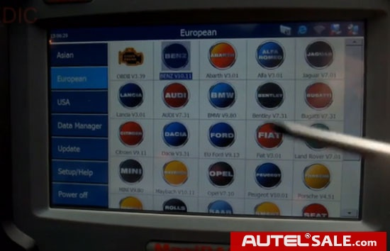 How to Calibrate Mercedes Airmatic control unit by Autel