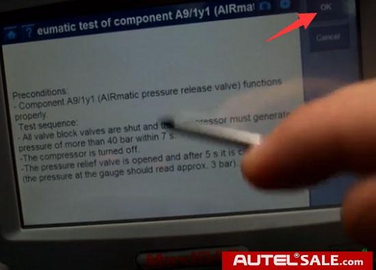 Autel-DS708-Mercedes-S430-Airmatic-Suspension-9
