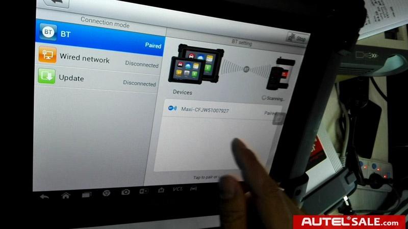 Original Autel MaxiSys Pro MS908P Bluetooth pair and