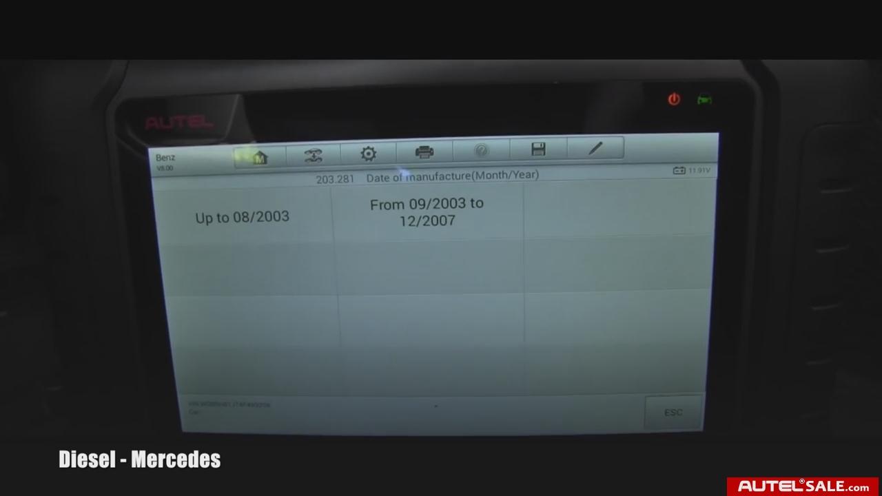 How to Reset Mercedes SRS Light by Autel MaxiDas DS808   AutelSale