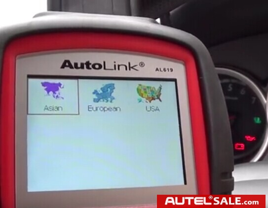 Engine ABS SRS Faults Diagnosis in Honda 2005 by AUTEL AL619-5