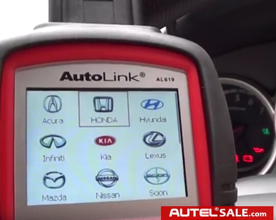 Engine ABS SRS Faults Diagnosis in Honda 2005 by AUTEL AL619-6
