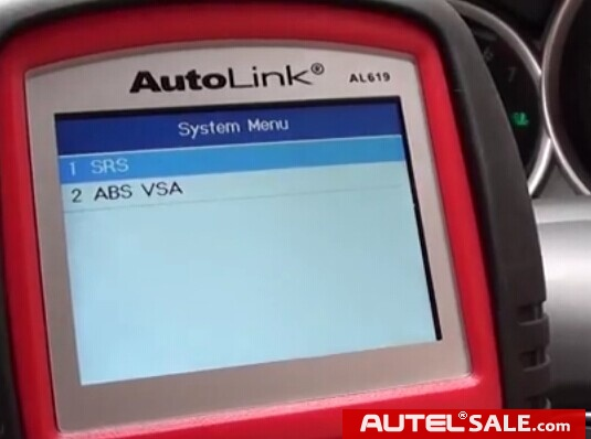 Engine ABS SRS Faults Diagnosis in Honda 2005 by AUTEL AL619-9