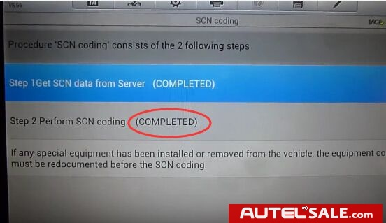 3 steps to do MB SCN Coding Online easily by Autel MS908P