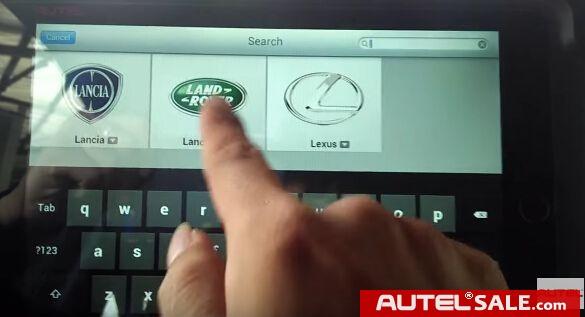 Autel MS908 diagnose Land Rover Evoque 2014 reset Service