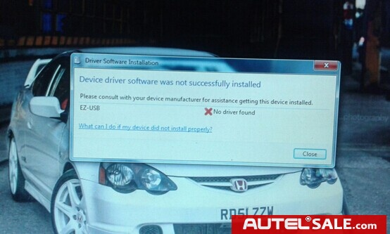 you cannot successfully install device driver software.