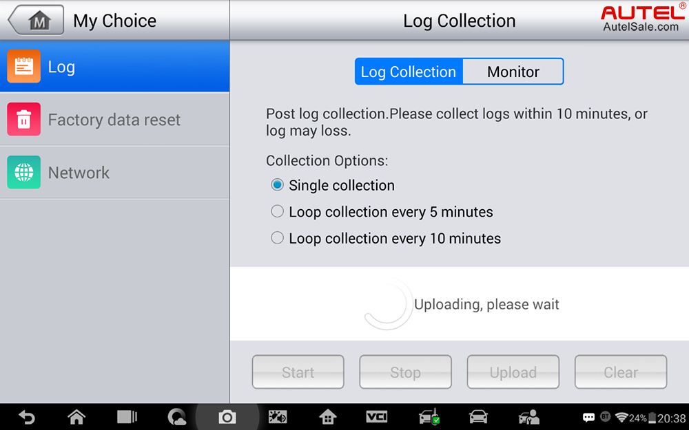 Step 4: Log collection uploading now