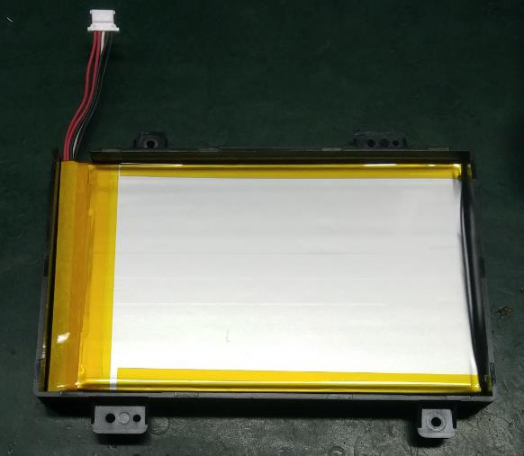 Refer to the following image to put the battery inside the battery cover